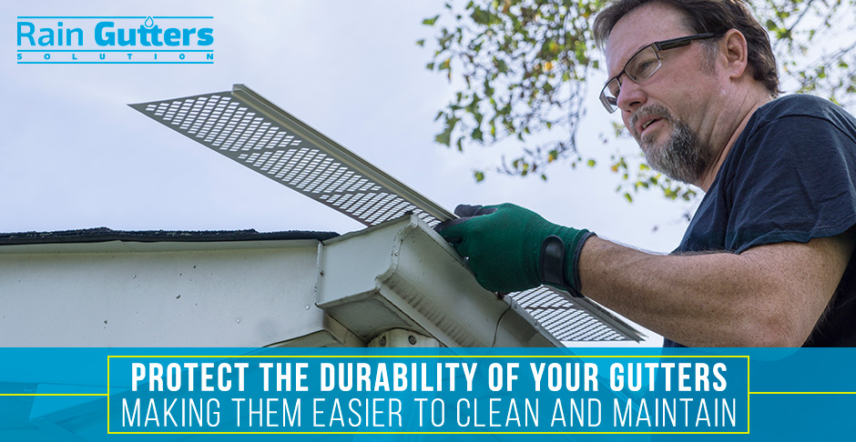 Rain Gutter Cleaning Leaf Guards
