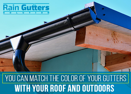 Painting your Custom Rain Gutters