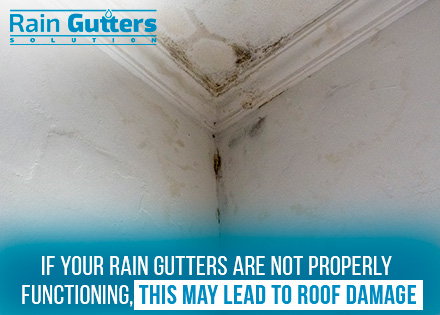 Roof Damage Due to an Unproper Custom Rain Gutter Installation
