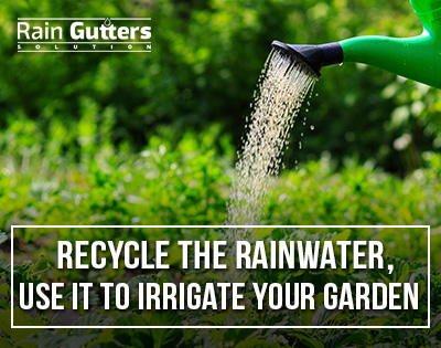 Recycle the rainwater, use it to irrigate your garden
