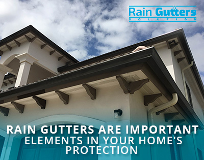 A House With Rain Gutters Installed by a Rain Gutter Company