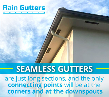 Seamless gutters service at your home