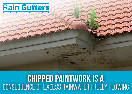 Rain gutters installation roof damage