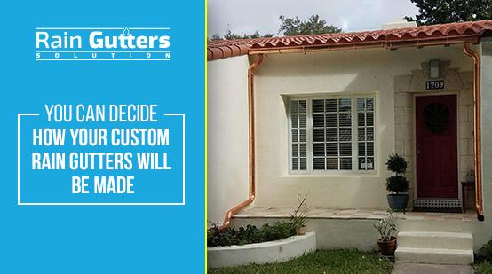 Custom Rain Gutters Rain Gutters Solution