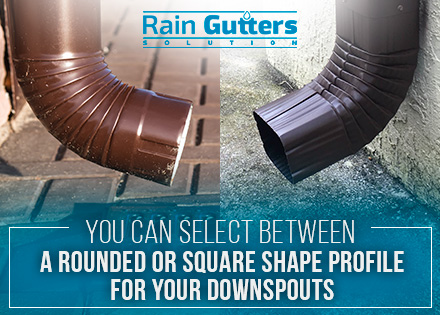 Rain Gutter Installation Types of Downspouts