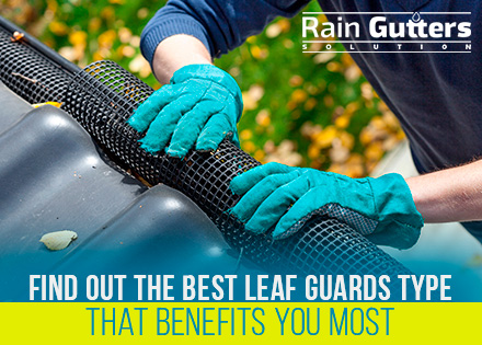 Leaf Guards Type for Rain Gutter Cleaning