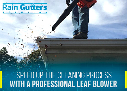 Rain Gutter Cleaning Leaf Blower