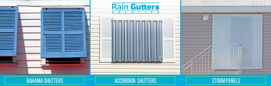 Shutters Types and Rain Gutters Installation