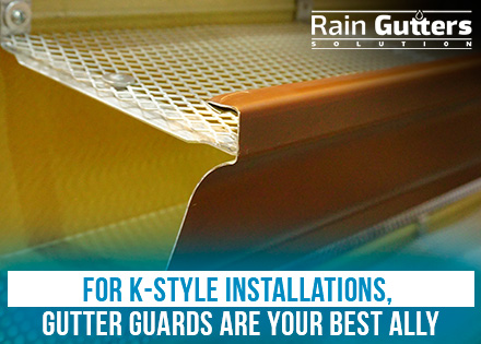 A K-Style Rain Gutter Installation with a Gutter Guard
