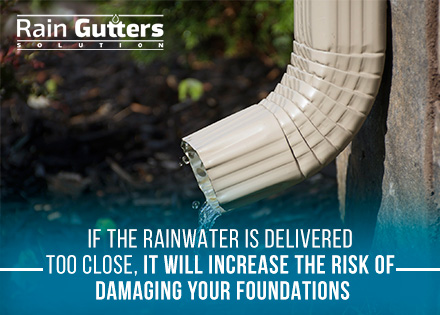 Rain Gutter Installation Short Downspouts Delivering Water