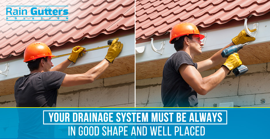 Gutter Placement And Hanger Spacing Man Installing Rain Gutter System