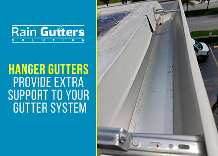 Gutter accessories Hanger Gutters Installed