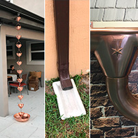 Gutter Accesories Rain Chain Splaah Block and Downspout