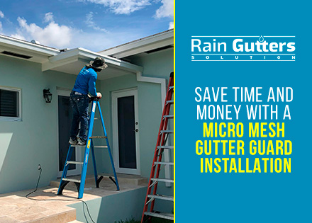 Micro Mesh Gutter Guard Installation By Rain Gutters Solution Worker