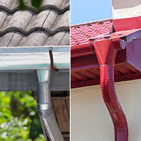 Type of Rain Gutter Installations