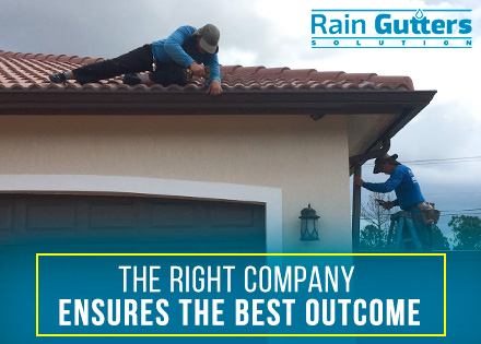Rain Gutters Installation Performed by Workers