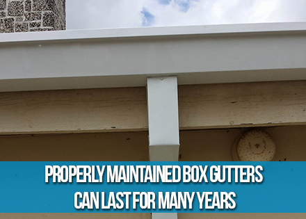 Box Rain Guttter with Downspout