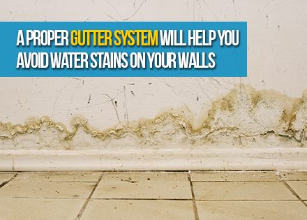 Stains on Walls for Not Using Rain Gutters