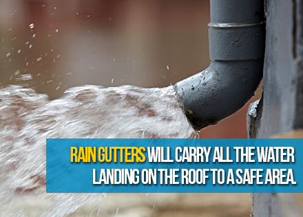 Rain Gutter Needed to Direct Water to Safe Place