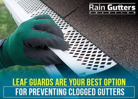 Custom Rain Gutters with Leaf Guards