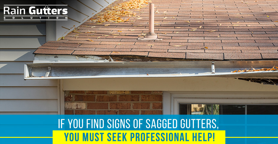 Sagged Gutters Needing a Rain Gutter Repair Service
