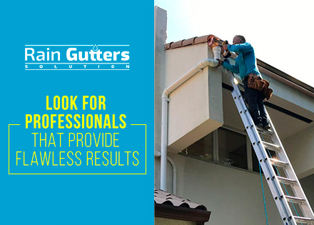 Cleaning and Repairing Rain Gutters by Rain Gutters Solution