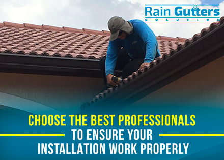 Rain Gutter Installation with Worker Customize Gutter System
