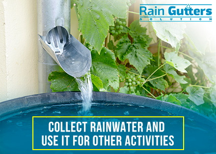 Rain Gutter Installation Downspout Collect Water System
