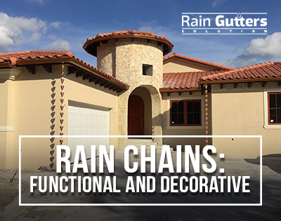 Rain Chains: Functional and Decorative