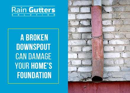 An Old and Broken Downspout That Needs a Rain Gutter Repair Service