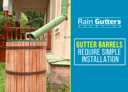 Rain Gutter Barrel Rainwater Collection System