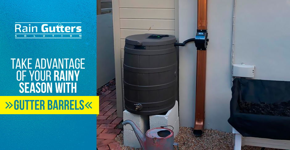 Rain Gutter Barrel Collection System and Downspout