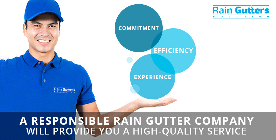 A Rain Gutter Company Worker Showing the Qualities That Every Rain Gutter Company Should Have