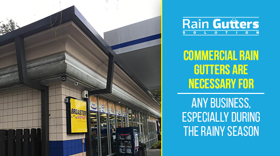 Commercial Building With Commercial Rain Gutter System
