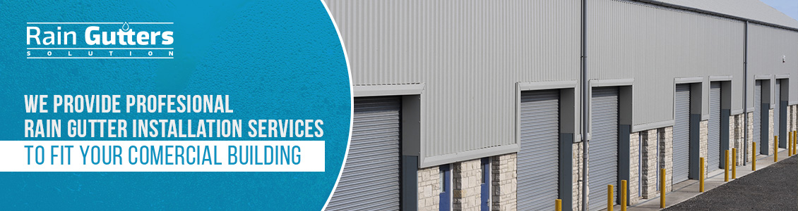 Warehouse Building With Commercial Rain Gutters