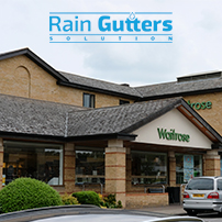 Facade of Commercial Establishment with a Rain Gutters System