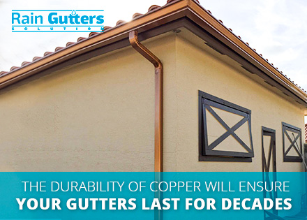 Copper Rain Gutters Installation