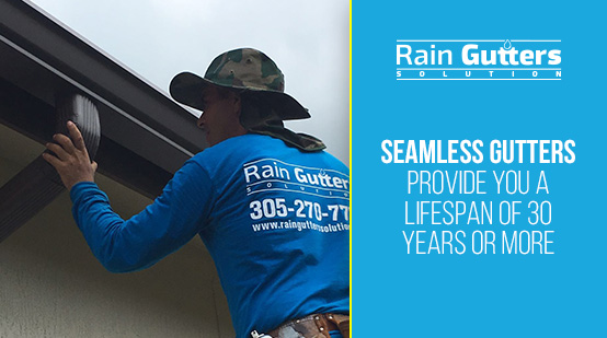 Seamless Gutter Installation with Rain Gutters Solution Worker