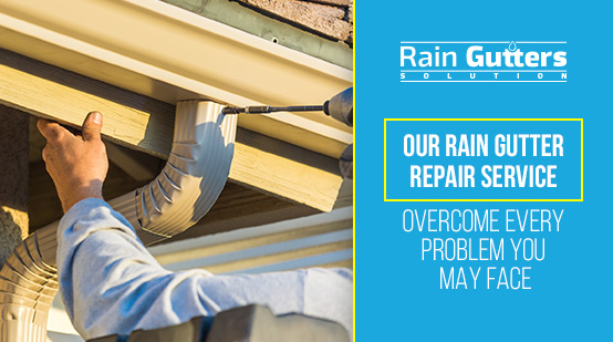 Rain Gutter Repair Service with Rain Gutters Solution Worker