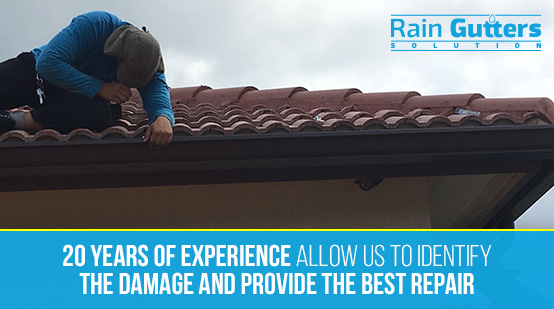 Rain Gutter Repair Service Performed by rain Gutters Solution Team