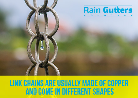 Custom Rain Gutters Link Chains